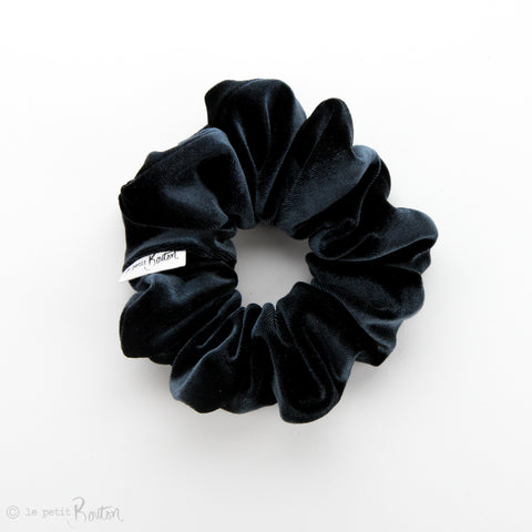 Luxe Statement Scrunchie - Luxe Velvet - Ink Navy
