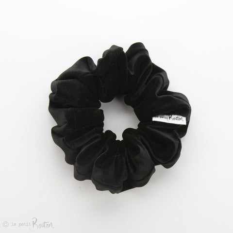 Luxe Statement Scrunchie - Luxe Velvet - Black