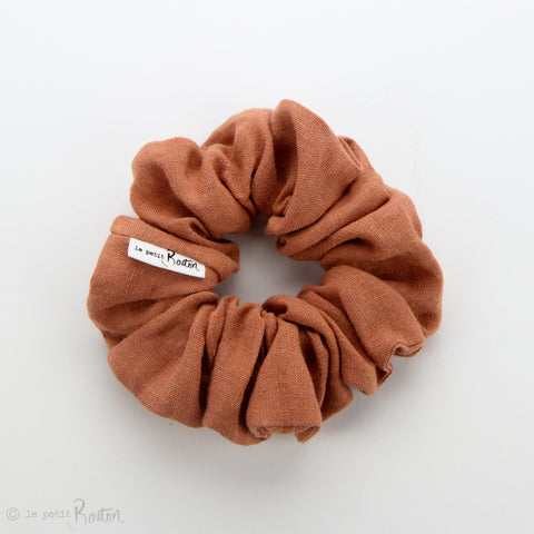 Luxe Statement Scrunchie - Terracotta Linen