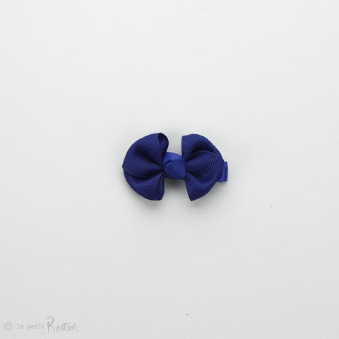 Wide Petit Grosgrain Ribbon Bow Clip - Cobalt