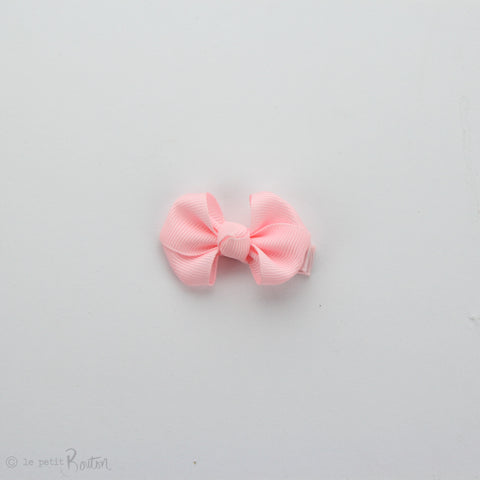 Wide Petit Grosgrain Ribbon Bow Clip - Light Pink