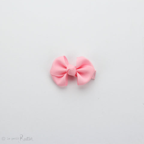 Wide Petit Grosgrain Ribbon Bow Clip - Pink