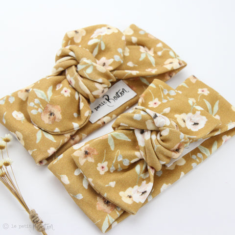 EXCLUSIVE Organic Cotton Bow Knot Headband - Golden Wildflower