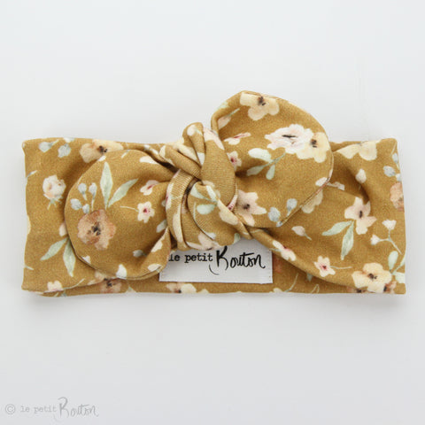 SS19 EXCLUSIVE Organic Cotton Top Knot Headband - Golden Wildflower