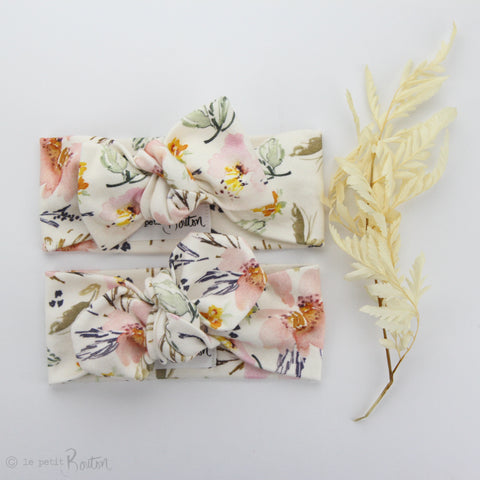 SS19 Organic Cotton Bow Knot Headband - Spring Wildflowers