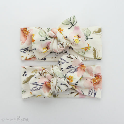 SS19 Organic Cotton Top Knot Headband - Spring Wildflowers