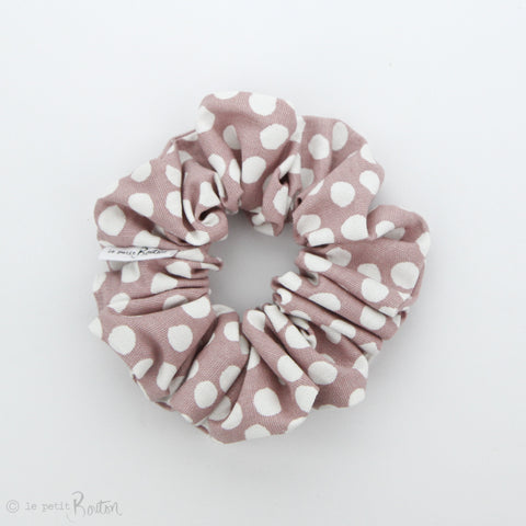 Luxe Statement Scrunchie - Dusty Pink Spotted Linen