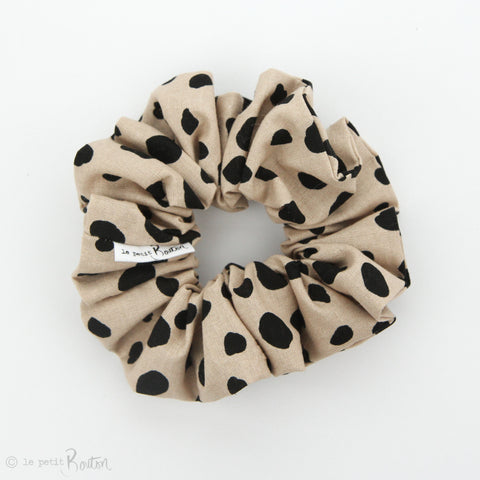 Luxe Statement Scrunchie - Animal Print Linen