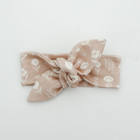 Autumn20 Newborn Organic Cotton Top Knot Headband - Natural