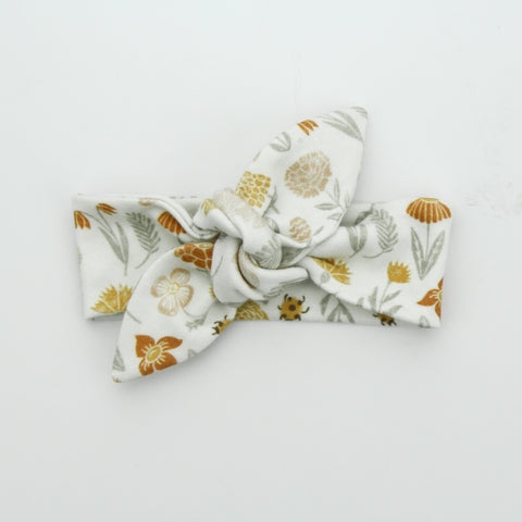 Newborn Organic Cotton Top Knot Headband - Mother Nature