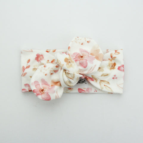 Autumn20 Organic Cotton Top Knot Headband - Meet me in the Wildflowers