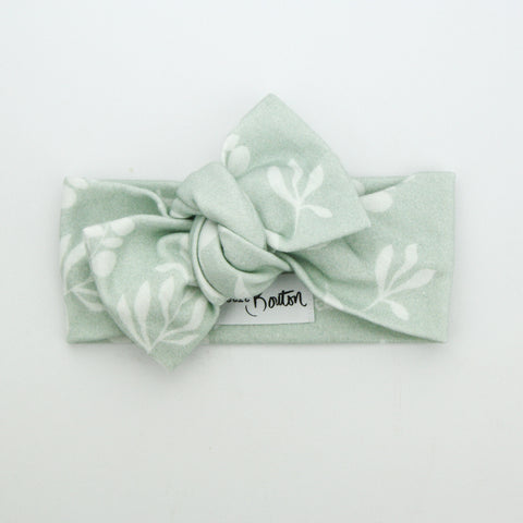 Autumn20 Organic Cotton Bow Knot Headband - Australiana - Ecalyptus