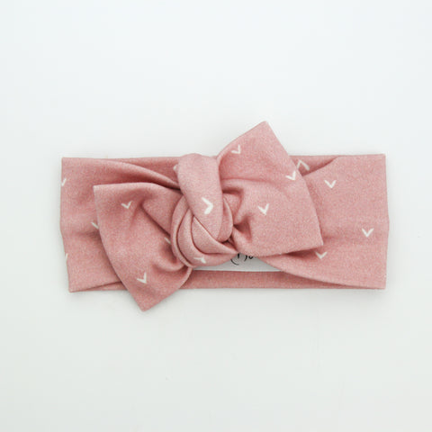 Autumn20 Organic Cotton Bow Knot Headband - Rosewood Hearts
