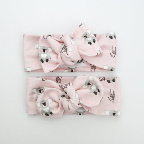 Organic Cotton Top Knot Headband - Australiana EXCLUSIVE - Koala Love - 20% of the sale goes to adopt a koala.