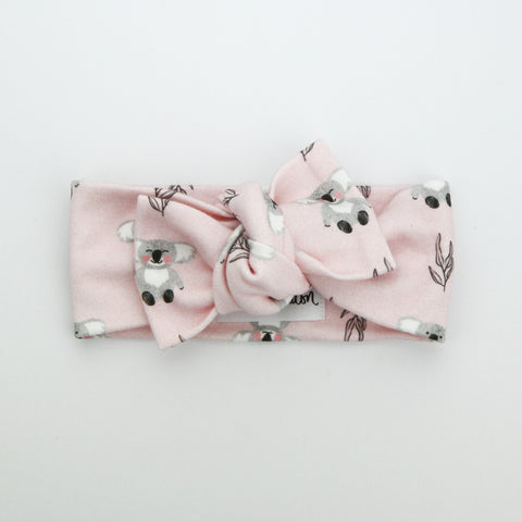 Organic Cotton Bow Knot Headband - Australiana EXCLUSIVE - Koala Love - 20% of sale goes to adopt a koala