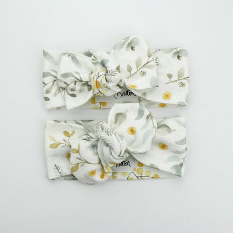 Autumn20 Organic Cotton Top Knot Headband - Australiana - Wattle We Do