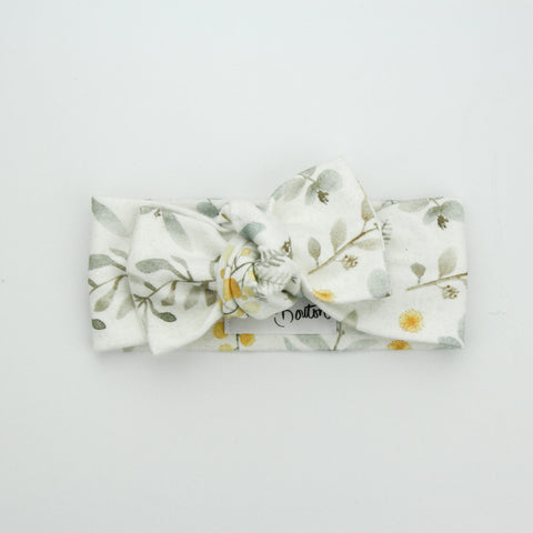 Autumn20 Organic Cotton Bow Knot Headband - Australiana - Wattle We Do