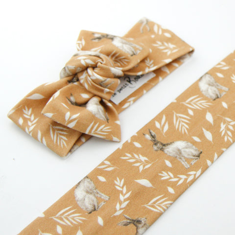 Easter Drop 2 - Organic Cotton Bow Knot Headband - Honey Bunny