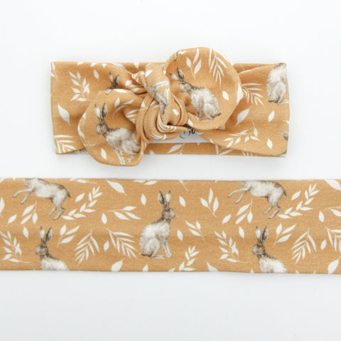 Easter Drop 2 - Organic Cotton Top Knot Headband - Honey Bunny