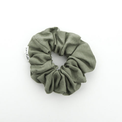 Luxe Statement Scrunchie - Sage Linen