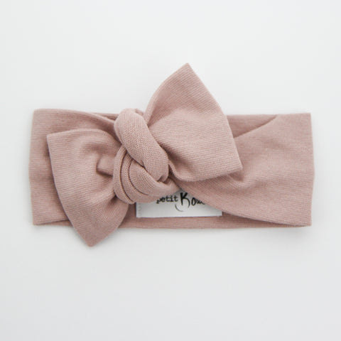 W20 Organic Cotton Ribbed Bow Knot Headband -Bloom