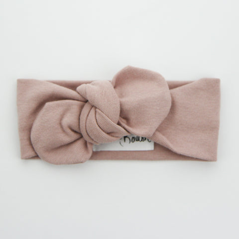 W20 Organic Cotton Ribbed Top Knot Headband -Bloom