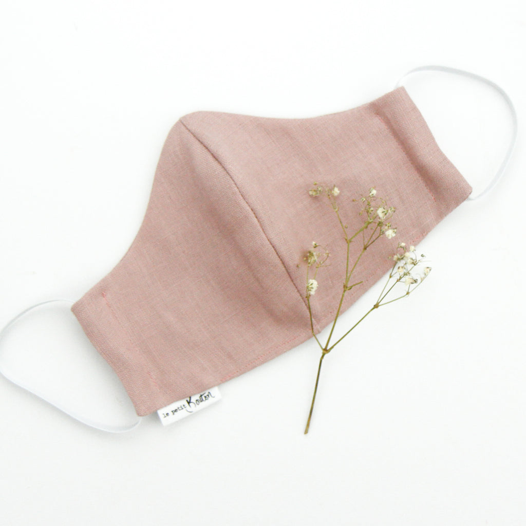 Face Masks - Dusty Pink Linen - Adult