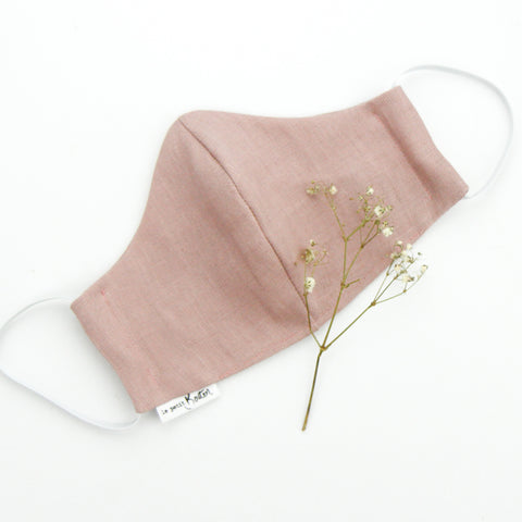Face Masks - Dusty Pink Linen.