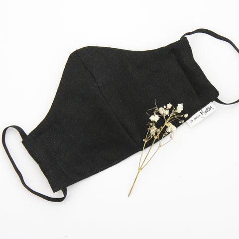 Face Masks - Black Linen - Adult