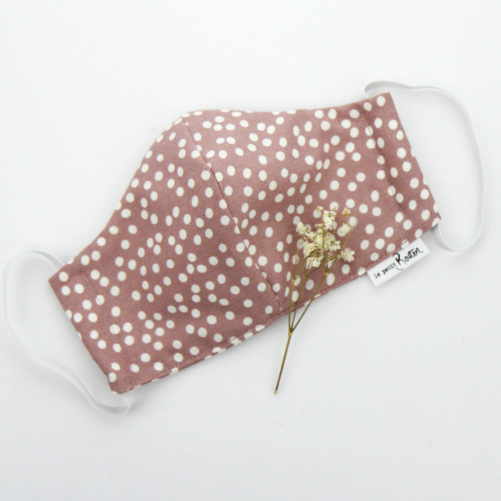 Face Masks - Dusty Pink Spot - Adult