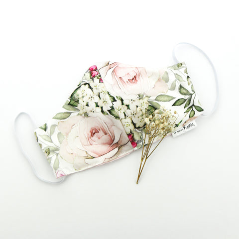 Face Masks -English Rose Floral - Adult