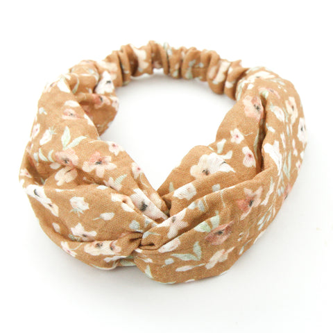 SS20 Luxe Organic Muslin Adult Turban Headband - Exclusive Golden Wildflower