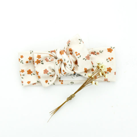 SS20 Organic Cotton Bow Knot Headband - Field of Daisies