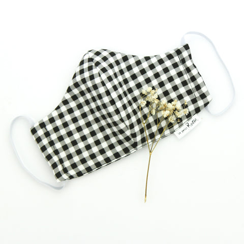 Face Masks - Gingham - Linen - Adult