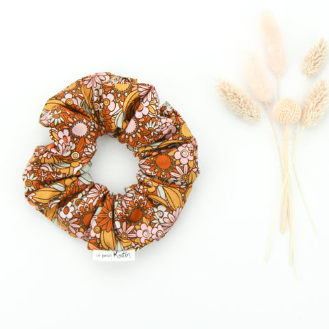 SS20 Luxe Statement Scrunchie - Flower Power