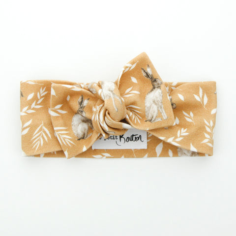 Easter 21 - Organic Cotton Bow Knot Headband - Honey Bunny