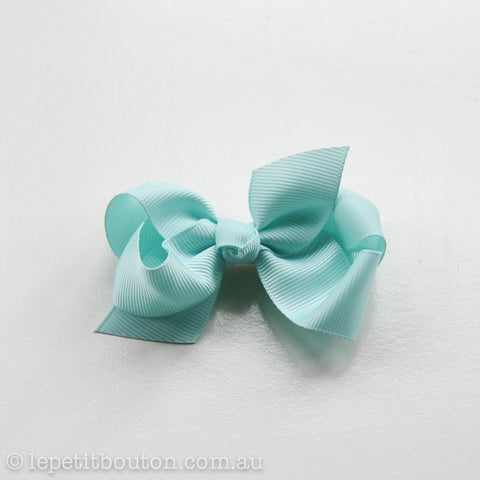 "Small Bow Hairclip ""Paige"" Aqua"