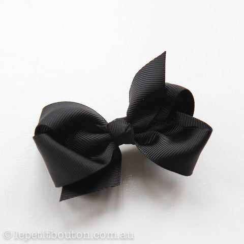 "Small Bow Hairclip ""Piper"" Black"
