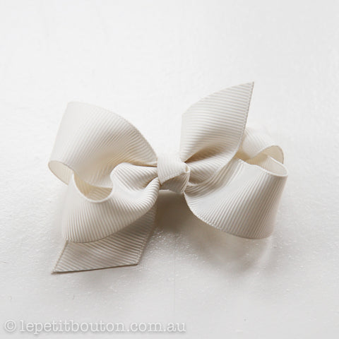 "Small Bow Hairclip ""Fleur"" Ivory"