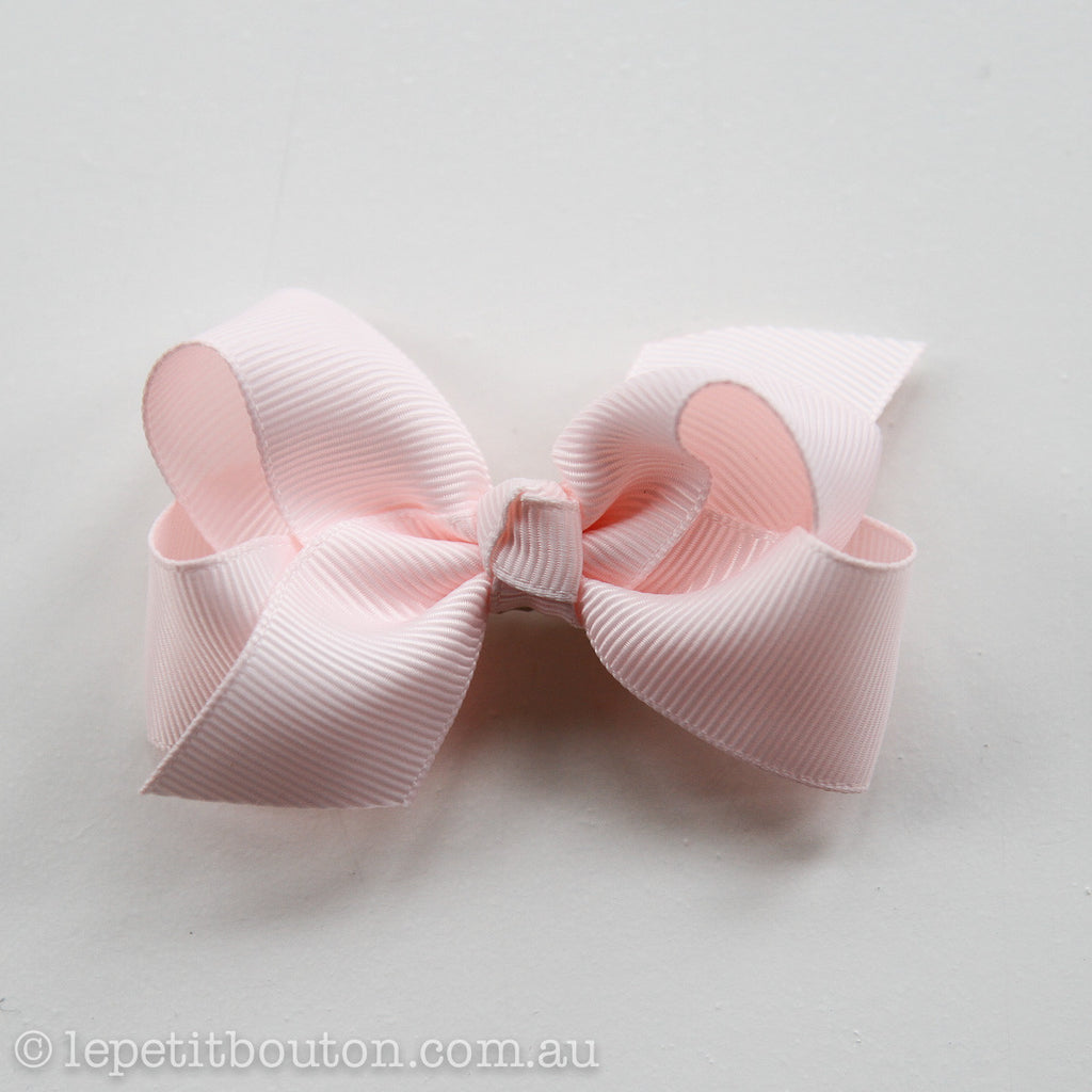 "Small Bow Hairclip  ""Jolee"" Light Pink - Le Petit Bouton"