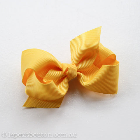 "Small Bow Hairclip ""Amali"" Dafodil"