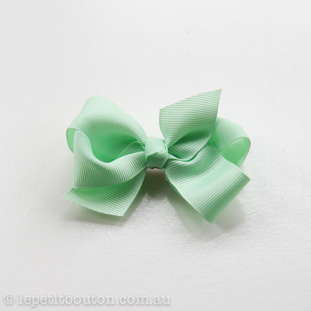 "Small Bow Hairclip ""Lulu"" Mint - Le Petit Bouton"
