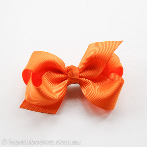 "Small Bow Hairclip  ""Ginger"" Orange"