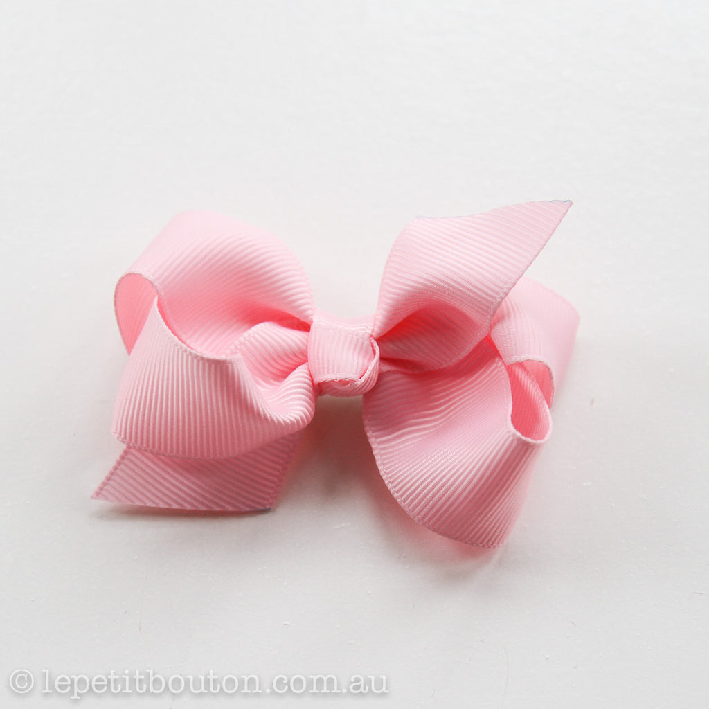 "Small Bow Hairclip  ""Charlotte"" Pink - Le Petit Bouton"