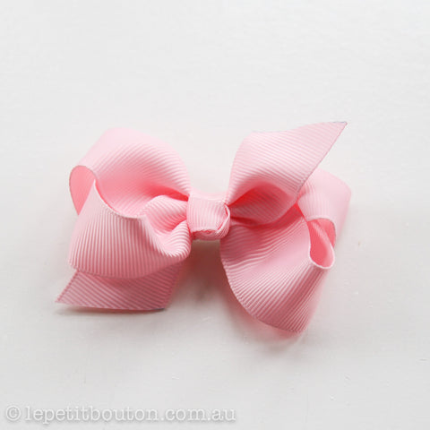 Small Grosgrain Ribbon Bow Hair Clip - Pink