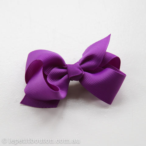"Small Bow ""Macee"" Purple"