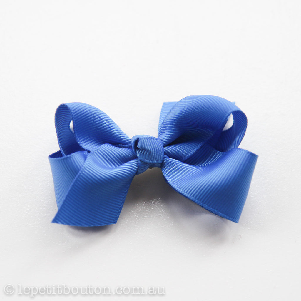 "Small Bow ""Melanie"" Royal Blue - Le Petit Bouton"