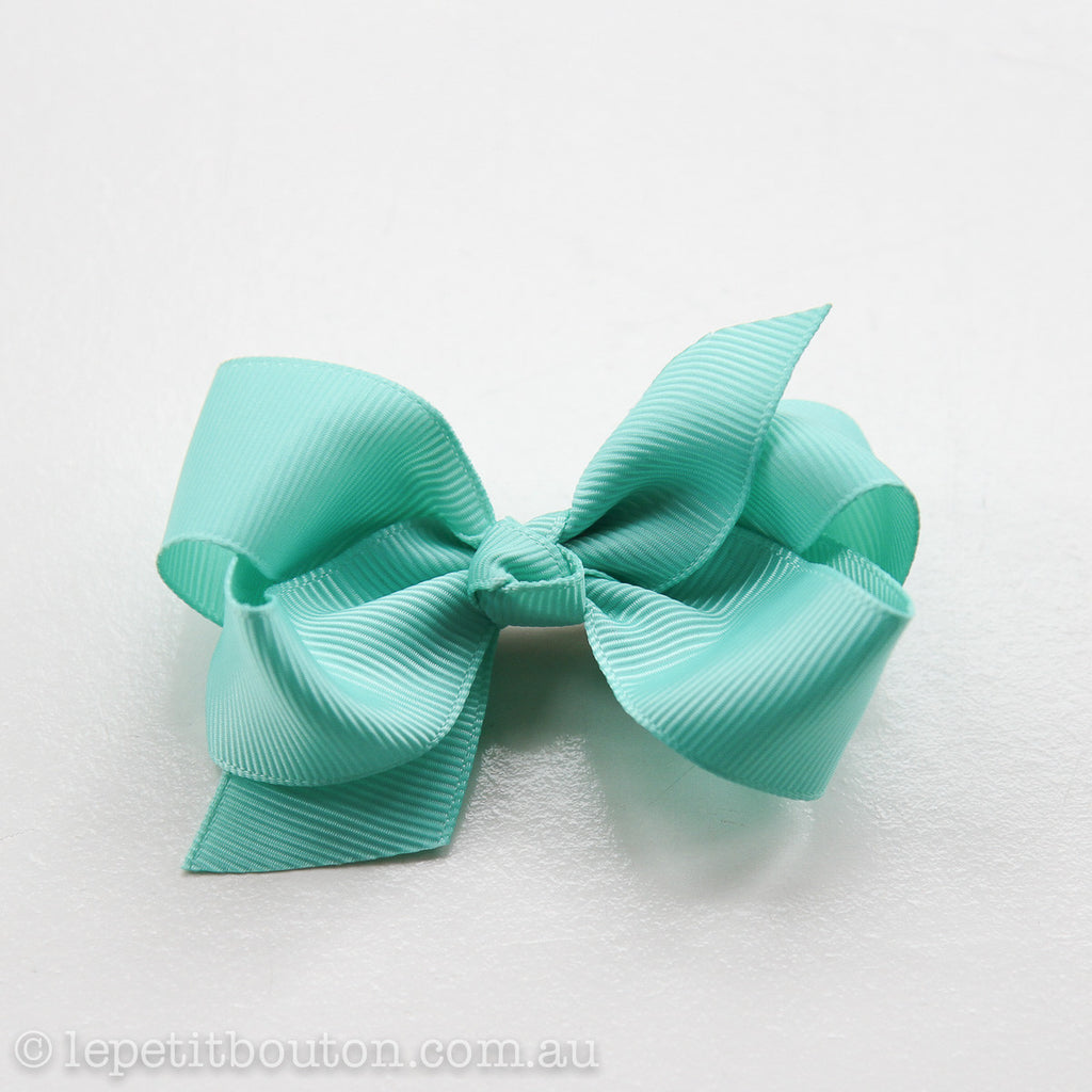 "Small Bow Hairclip ""Stephanie"" Tropic - Le Petit Bouton"