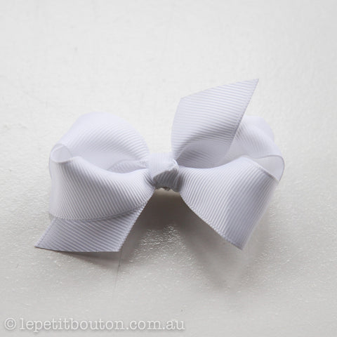 "Small Bow Hair clip ""Katie"" White"