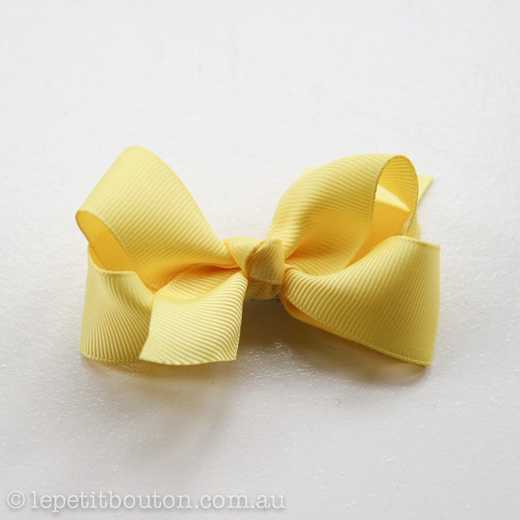 "Small Bow Hair Clip ""Willow"" Yellow - Le Petit Bouton"